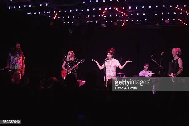 Kenny Mellman Sara Landeau Kathleen Hanna Carmine Covelli and Kathi Wilcox of The Julie Ruin perform at Saturn Birmingham on August 14 2016 in...