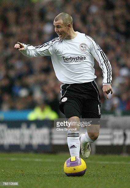 Kenny Miller of Derby County in action during the Barclays Premier League match between Derby County and Middlesbrough at Pride Park on December 15,...