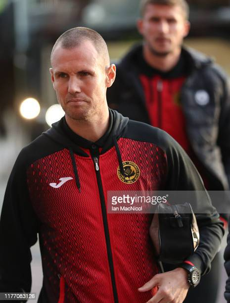 Kenny Miller of Partick Thistle arrives prior to the Betfred Scottish League Cup quarter final match between Celtic and Partick Thistle at Celtic...