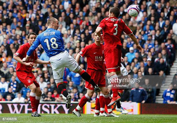 Kenny Miller of Rangers scores against Aberdeen during the Scottish Premier League match between Rangers and Aberdeen at Ibrox Stadium on May 16 2009...