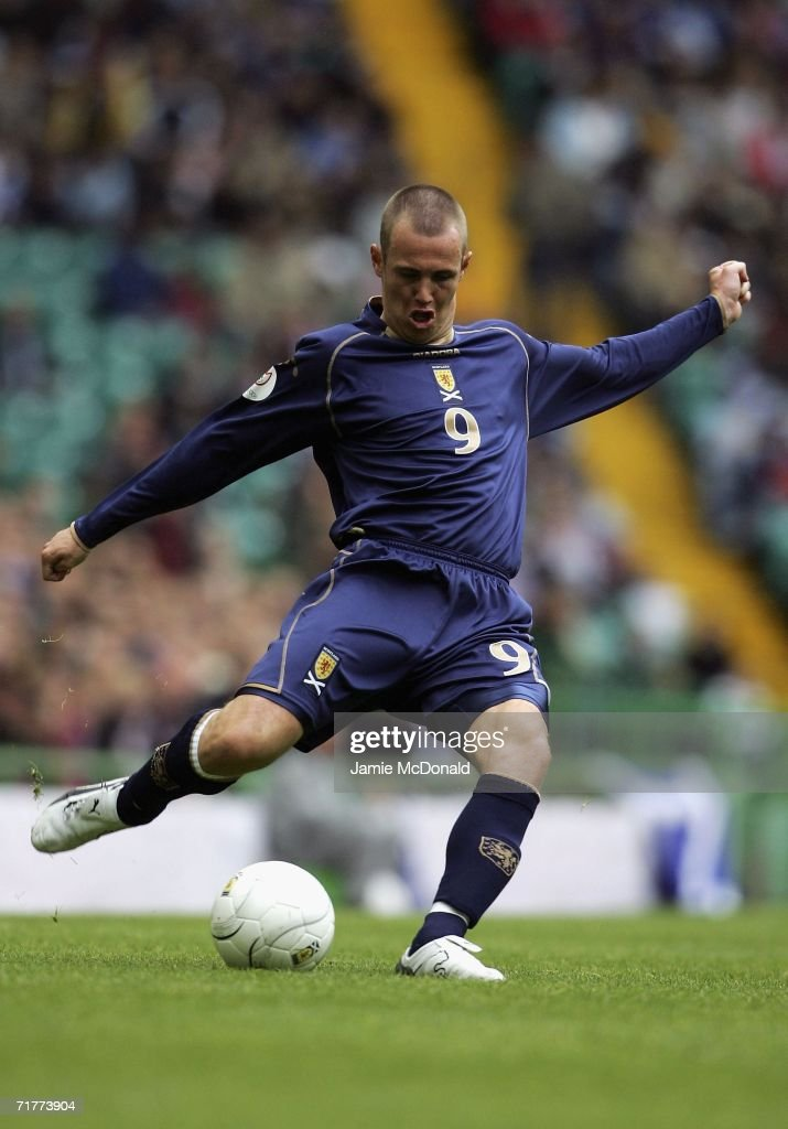 Kenny Miller of Scotland in action during the Euro 2008 Qualifying Group B match between Scotland and Faroe Islands at Celtic Park on September 2, 2006 in Glasgow, Scotland