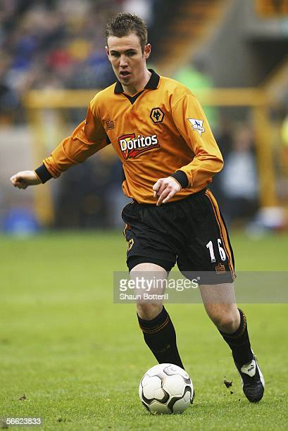 Kenny Miller of Wolverhampton Wanderers during the FA Barclaycard Premiership match between Wolverhampton Wanderers and Manchester United at Molineux...