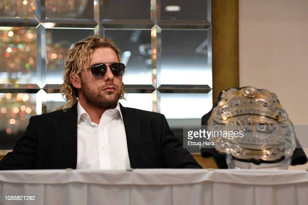 Kenny Omega attends a press conference of the Wrestle Kingdom 13 at Meiji Kinenkan on October 9 2018 in Tokyo Japan