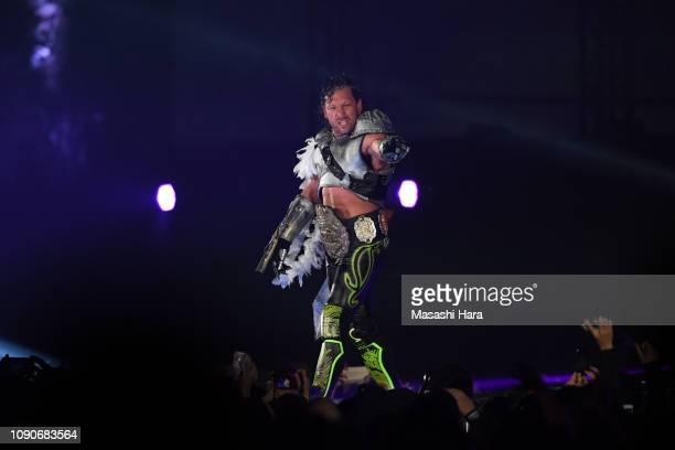 Kenny Omega enters during the Wrestle Kingdom 13 at Tokyo Dome on January 04 2019 in Tokyo Japan
