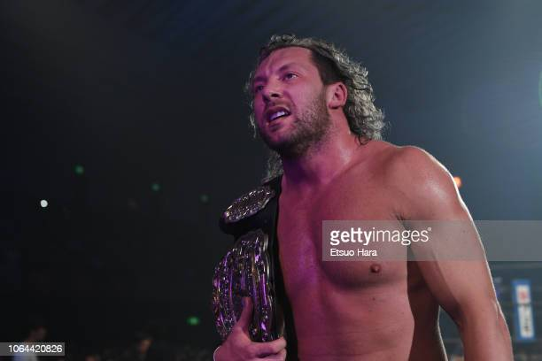 Kenny Omega looks on after the tag match during the Power Struggle Super Jr Tag League 2018 at Edion Arena Osaka on November 03 2018 in Osaka Japan