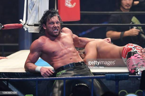 Kenny Omega looks on during the Wrestle Kingdom 13 at Tokyo Dome on January 04 2019 in Tokyo Japan