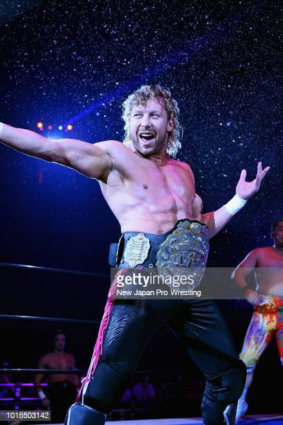Kenny Omega stands on the ring prior to the 6man tag match during the New Japan ProWrestling G1 Climax 28 at Nippon Budokan on August 12 2018 in...