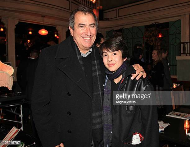 Kenny Ortega and Alex Ko attend the opening night of 'West Side Story' after party at Ivan Kane's Café on December 1 2010 in Hollywood California