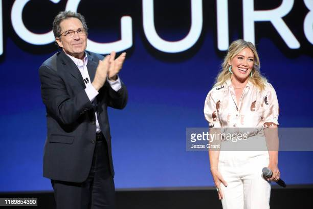 Kenny Ortega and Hilary Duff of 'Lizzie McGuire' took part today in the Disney Showcase at Disney's D23 EXPO 2019 in Anaheim Calif 'Lizzie McGuire'...
