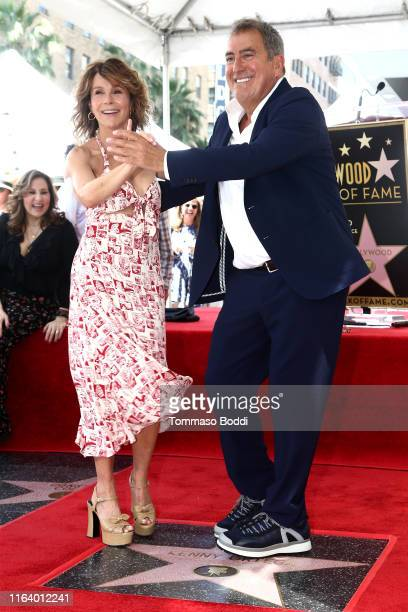 Kenny Ortega and Jennifer Grey attend a ceremony honoring Kenny Ortega with a star on The Hollywood Walk of Fame on July 24 2019 in Hollywood...