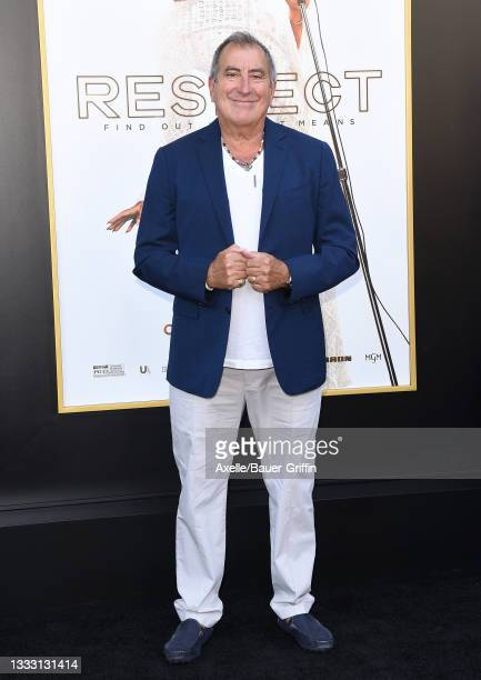 """Kenny Ortega attends the Los Angeles Premiere of MGM's """"Respect"""" at Regency Village Theatre on August 08, 2021 in Los Angeles, California."""