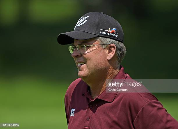 Kenny Perry walks to the 12th green during the third round of the Constellation SENIOR PLAYERS Championship at Fox Chapel Golf Club on June 28, 2014...