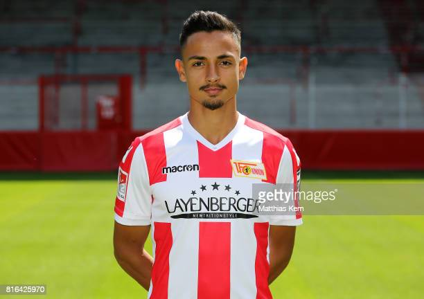 Kenny Prince Redondo of 1 FC Union Berlin poses during the team presentation at Stadion an der Alten Foersterei on July 17 2017 in Berlin Germany