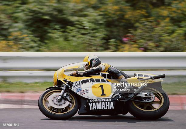 Kenny Roberts of the United States rides the Yamaha YZR 500 during the German motorcycle Grand Prix on 24 August 1980 at the Nurburgring circuit in...