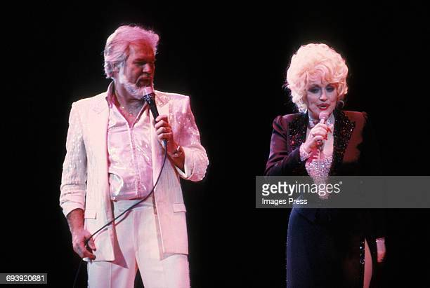 Kenny Rogers and Dolly Parton circa 1985 in New York City