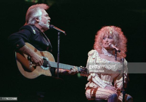 Kenny Rogers and Dolly Parton perform at the Target Center in Minneapolis Minnesota on October 29 1990