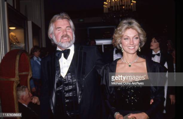 Kenny Rogers and his wife Marianne Gordon attend an event in circa 1983