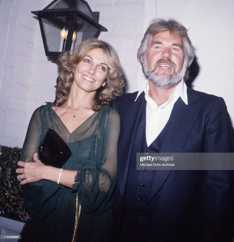 Kenny Rogers and his wife Marianne Gordon attend an event ...
