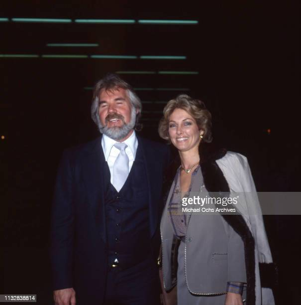 Kenny Rogers and his wife Marianne Gordon attend an event in circa 1983.