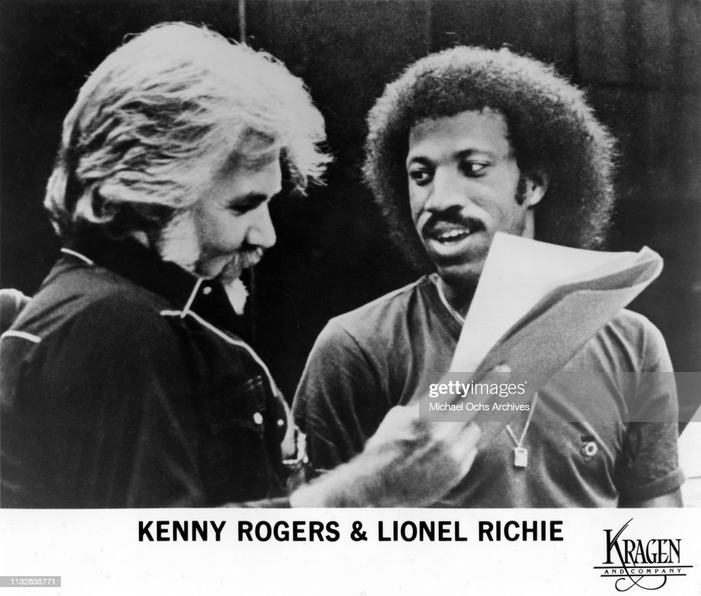 """Kenny Rogers and Lionel Richie Working on """"Lady"""" : News Photo"""