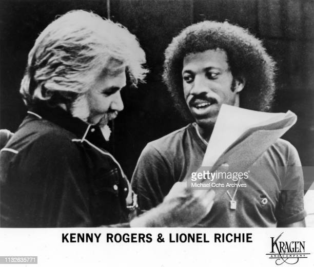 Kenny Rogers and Lionel Richie working on the song Lady in 1980