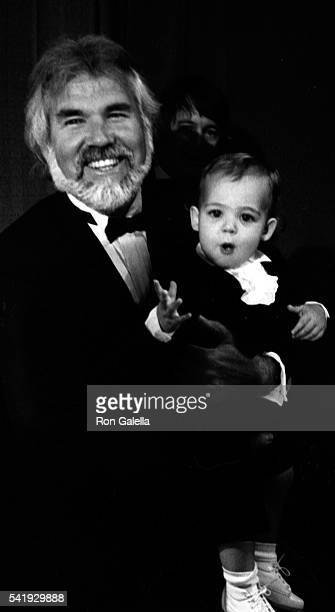 Kenny Rogers and son Christopher Cody Rogers attend 10th Annual American Music Awards on January 17, 1983 at the Shrine Auditorium in Los Angeles,...