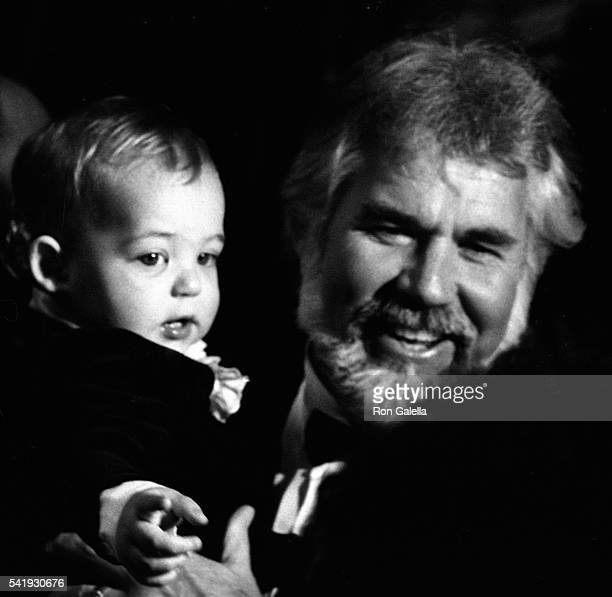 Kenny Rogers and son Christopher Cody Rogers attend 10th Annual American Music Awards on January 17 1983 at the Shrine Auditorium in Los Angeles...