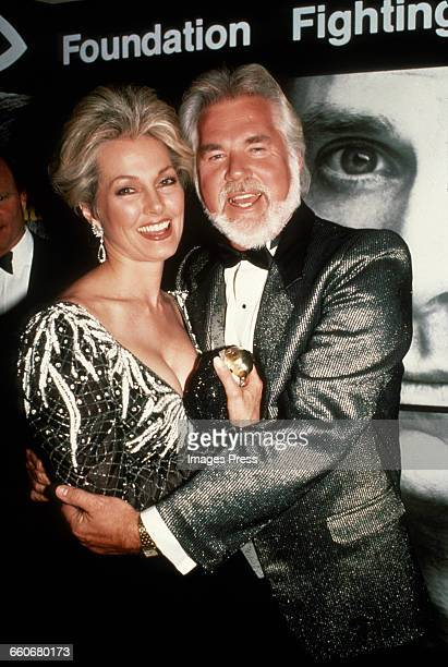 Kenny Rogers and wife Marianne circa 1988 in New York City