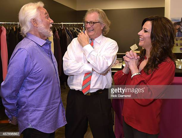 Kenny Rogers Director of The Country Music Hall of Fame and Museum Kyle Young and Martina McBride chat after Kenny Rogers Interview With 'ET' Special...