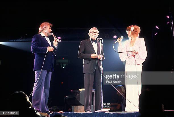 Kenny Rogers George Burns and Dottie West on 3/22/85 in Chicago Il