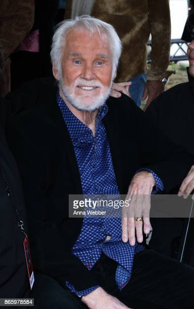 Kenny Rogers is inducted into the Nashville Music City Walk of Fame on October 24 2017 in Nashville Tennessee