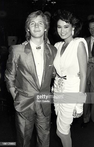 Kenny Rogers Jr and actress Tia Carrere attending 'PreGrammy Awards Party' on February 23 1986 at Chasen's Restaurant in Beverly Hills California