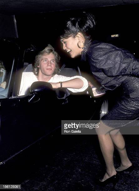 Kenny Rogers Jr and Actress Tia Carrere on March 19 1986 dining at Nicky Blair's Restaurant in Hollywood California
