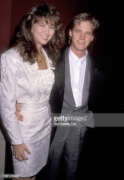 Kenny Rogers Jr and date attend the KickOff Celebration of Kenny Rogers Christmas Tour on November 25 1989 at Universal Amphitheatre in Universal...