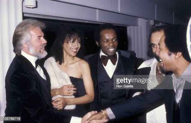 Kenny Rogers, Marilyn McKoo, Lou Rawls and guests during Lou Rawls Sighting at the Beverly Hilton Hotel - September 26, 1979 at Beverly Hilton Hotel...