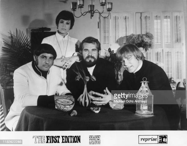 Kenny Rogers Mike Settle Terry Williams Thelma Camacho of Kenny Rogers The First Edition portrait in 1967