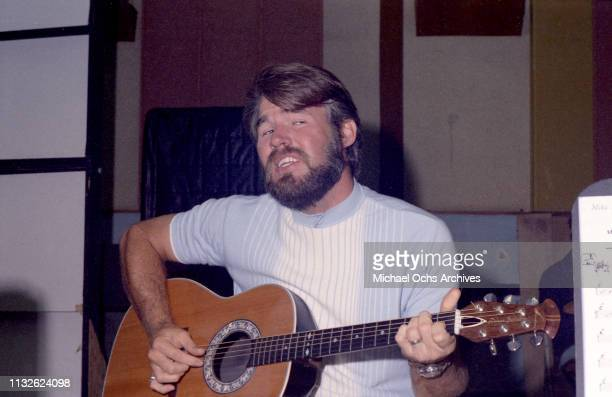 Kenny Rogers of Kenny Rogers The First Edition recording in the studio on July 7 1968 in Los Angeles