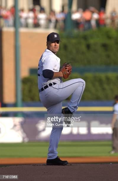 Kenny Rogers of the Detroit Tigers pitches during the game against the St. Louis Cardinals at Comerica Park in Detroit, Michigan on June 24, 2006....