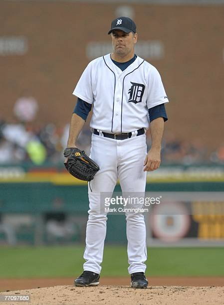 Kenny Rogers of the Detroit Tigers pitches during the game against the Toronto Blue Jays at Comerica Park in Detroit, Michigan on September 10, 2007....