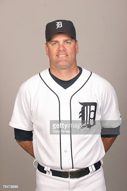 Kenny Rogers of the Detroit Tigers poses during photo day at Marchant Stadium on February 24 2007 in Lakeland Florida