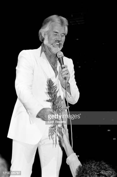 Kenny Rogers performing at the Meadowlands in East Rutherford, New Jersey on August 19, 1982.