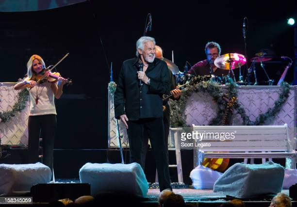 Kenny Rogers performs during his 2012 Christmas and Hits Tour at Fox theater on December 13 2012 in Detroit Michigan