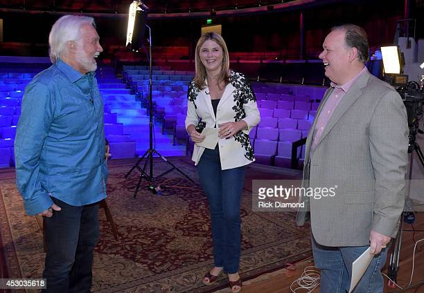 Kenny Rogers Publicist Kirt Webster and Jenna Bush Former First Daughter Jenna Bush interviews Kenny Rogers for NBC's 'Today' Show at The Country...