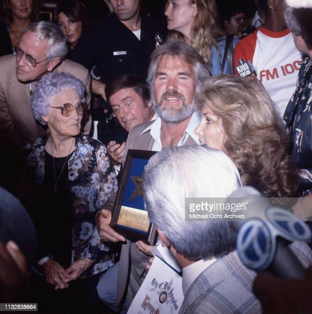 Kenny Rogers receives his star on the Hollywood Walk of Fame on September 14 1979 in Hollywood