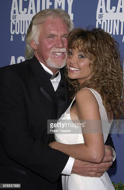 Kenny Rogers with his wife Wanda.