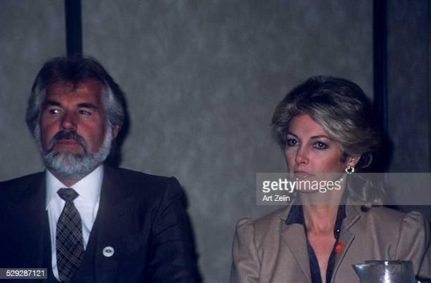 Kenny Rogers with is wife Marianne at the The Worked Hunger Media Awards 1982