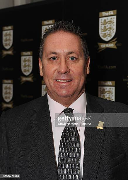 Kenny Sansom attends the official launch to mark the FA's 150th Anniversary Year at the Grand Connaught Rooms on January 16, 2013 in London, England.