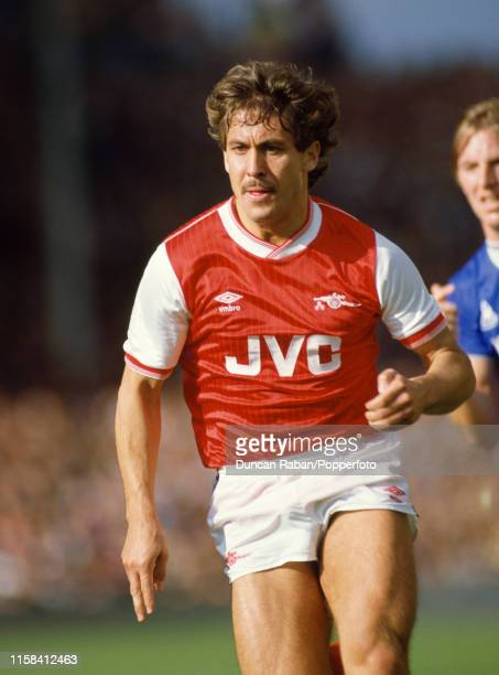Kenny Sansom of Arsenal in action during the Canon League Division One match between Arsenal and Everton at Highbury on October 6 1984 in London...
