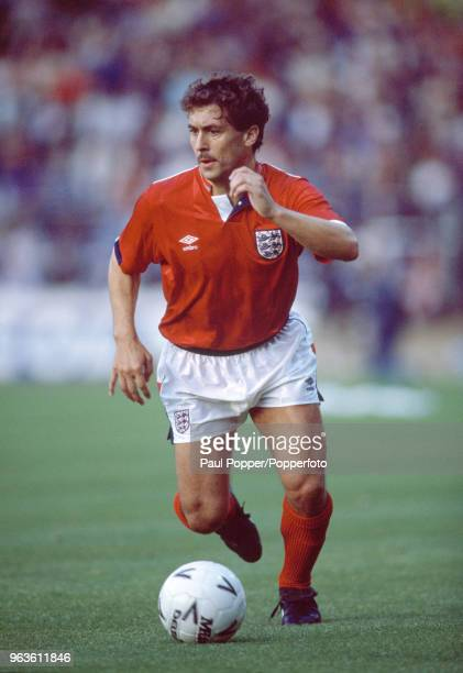 Kenny Sansom of England in action during the Rous Cup match between England and Colombia at Wembley Stadium on May 24 1988 in London England