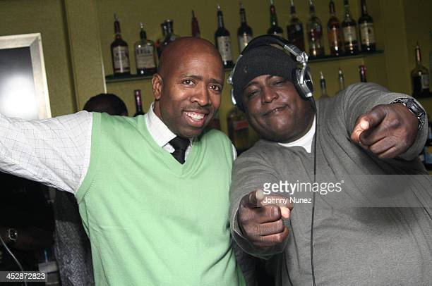 Kenny Smith and DJ SNS attend the Kenny Smith 8th Annual AllStar Bash on February 12 2010 in Dallas Texas